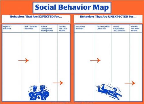 Social Behavior Map Template Poster - Dry Erase Surface